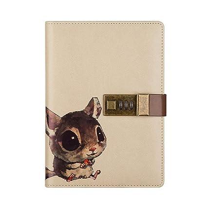 Cuaderno de viaje con cerradura de combinación, diario de ...