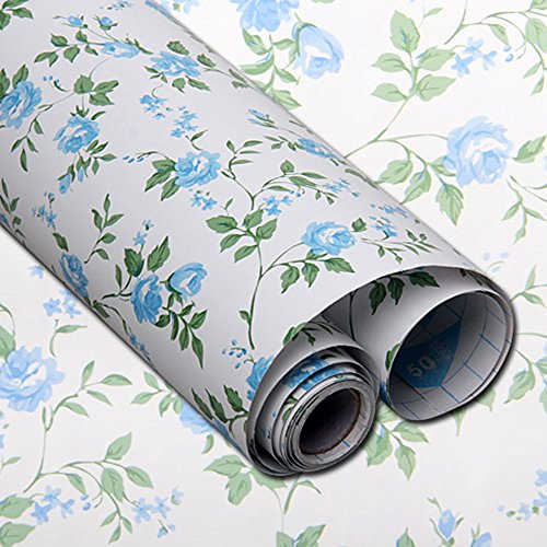 Review yazi Shelf Liner Drawer Self-Adhesive PVC Contact Paper,17x78 Inches, Blue By yazi by yazi