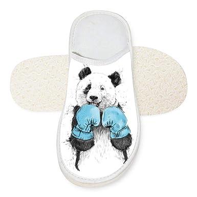 Amazon Com Slindfun House Slippers Minimalist Panda Unisex Autumn