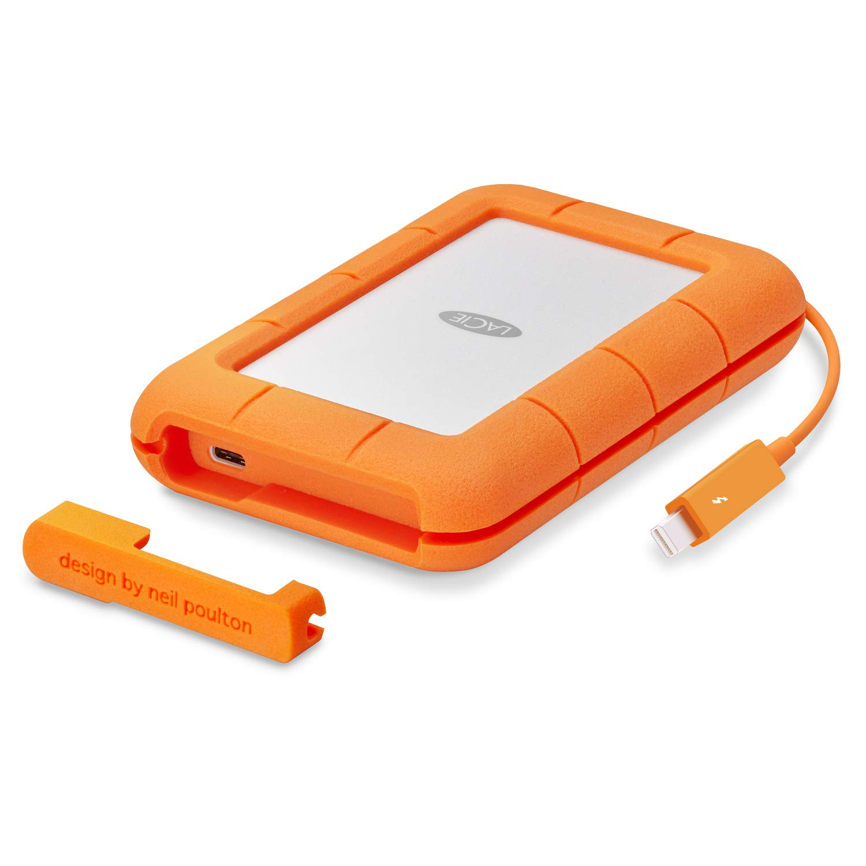 LaCie STFS2000800 Thunderbolt 2 TB Externe robuste Festplatte (6,4 cm (2,5 Zoll) Rugged, Staub-, Stoss- und Spritzwasser- geschü tzt, Thunderbolt und USB-C) SEAGATE