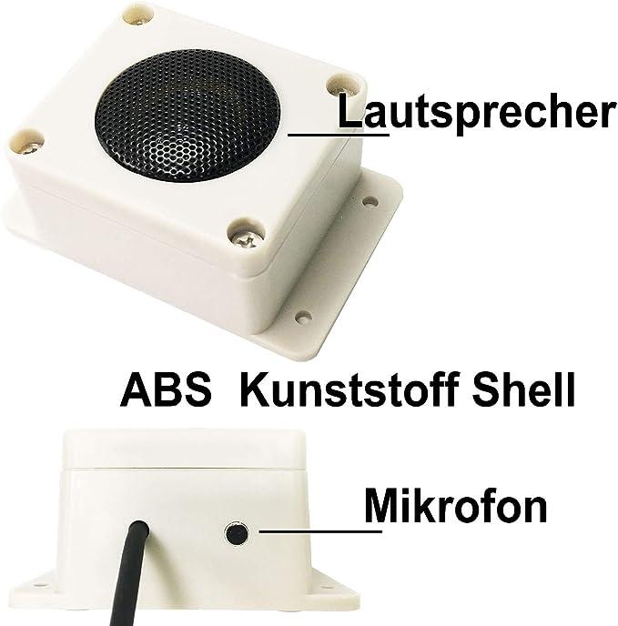 ZILNK Haut-parleur ext/érieur haute sensibilit/é avec microphone externe 2 en 1 pour cam/éra IP RCA surveillance CCTV audio bidirectionnel DVR//NVR cam/éra de surveillance int/érieur//ext/érieur