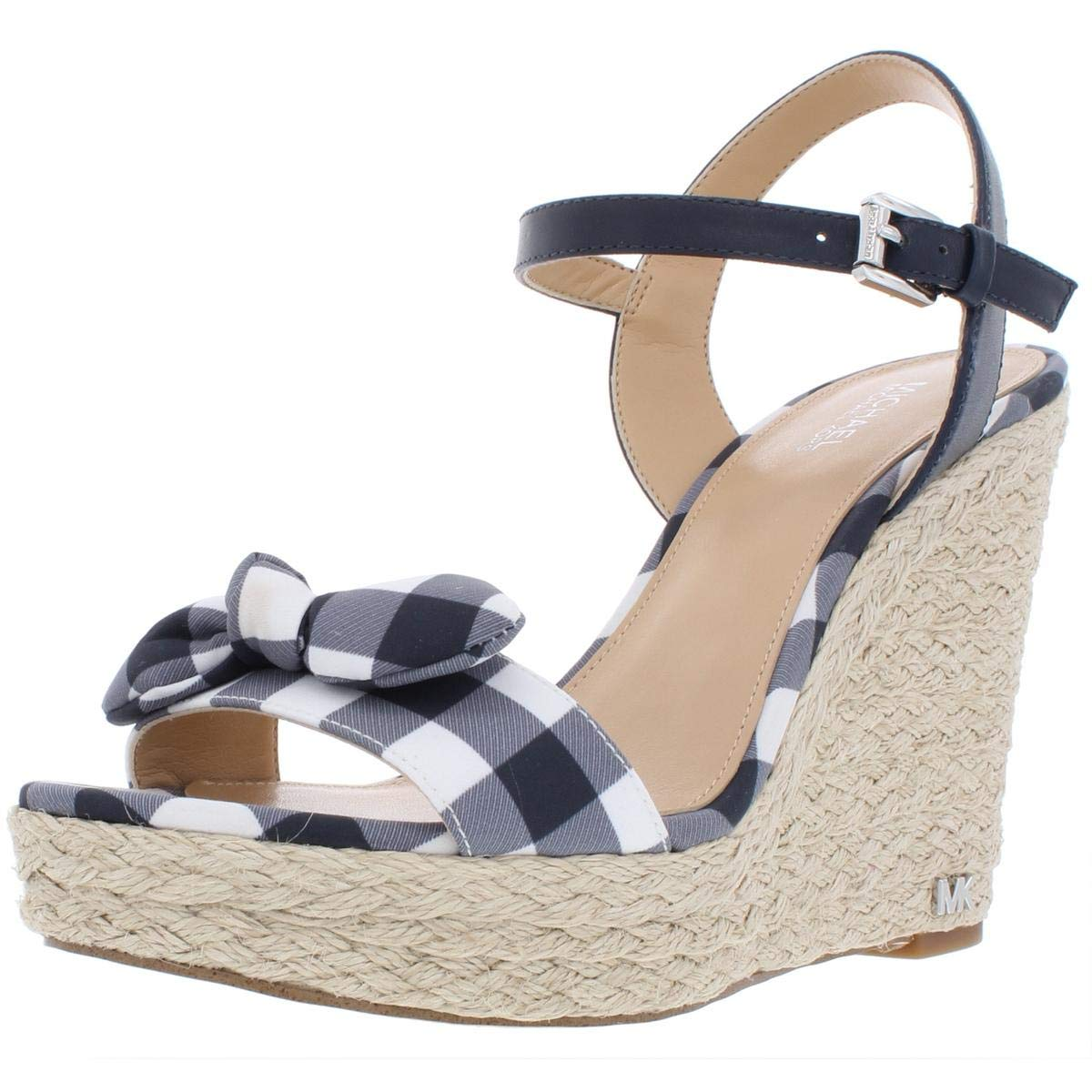 b4520305b20 Amazon.com | Michael Michael Kors Womens Pippa Gingham Wedge Sandals ...