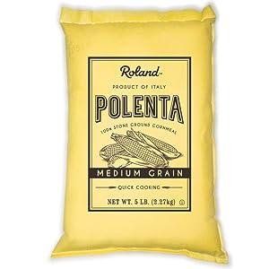 Roland Foods Medium Grain Yellow Polenta from Italy, 5 Lb Bag