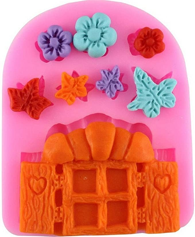3D Fairy House Silicone Fondant Mould Cake Decorating Chocolate Clay Mold W