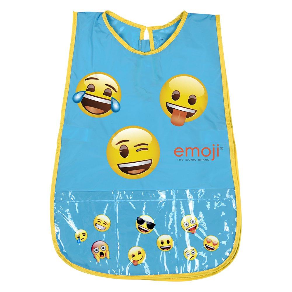Tablier Emoji pour Fille et Garçon - Blouse sans manches Enfant avec poche avant - Adapté pour protéger des taches et peinture - 3/5 Ans - Bleu - Perletti 99130