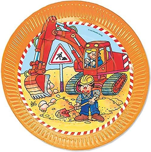 bicchieri tovaglioli e decorazioni per feste e feste a tema////von Lutz Mauder e CARPETA////Compleanno Aggiustatutto Party Set Bob con piatti escavatore /& cantiere 37/pezzi set