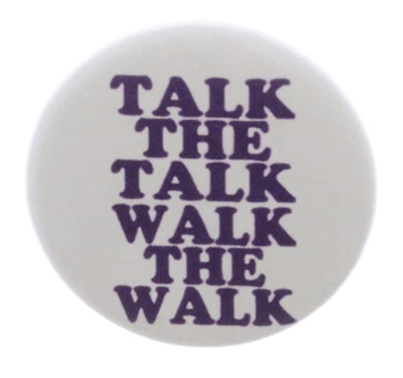 Amazoncom At Designs Talk The Talk Walk The Walk 225 Keychain