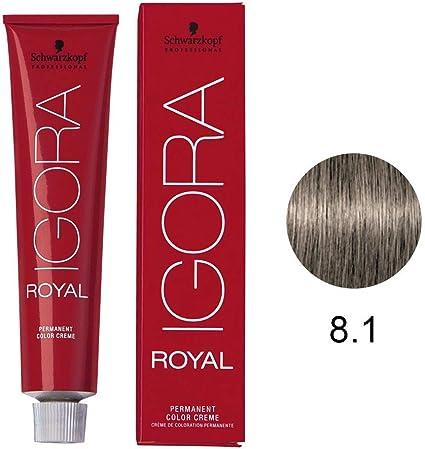 Schwarzkopf Igora Royal 8-1 Light Blonde Cendre Permanent Hair Color 2.1 fl. oz. (60 g) by Schwarzkopf Professional