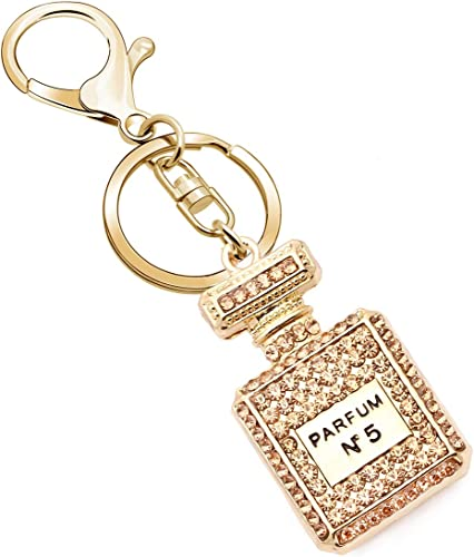 New Four Leaf Clover Keychain Car Crystal Key Chain Key Ring Women Bags Pendant