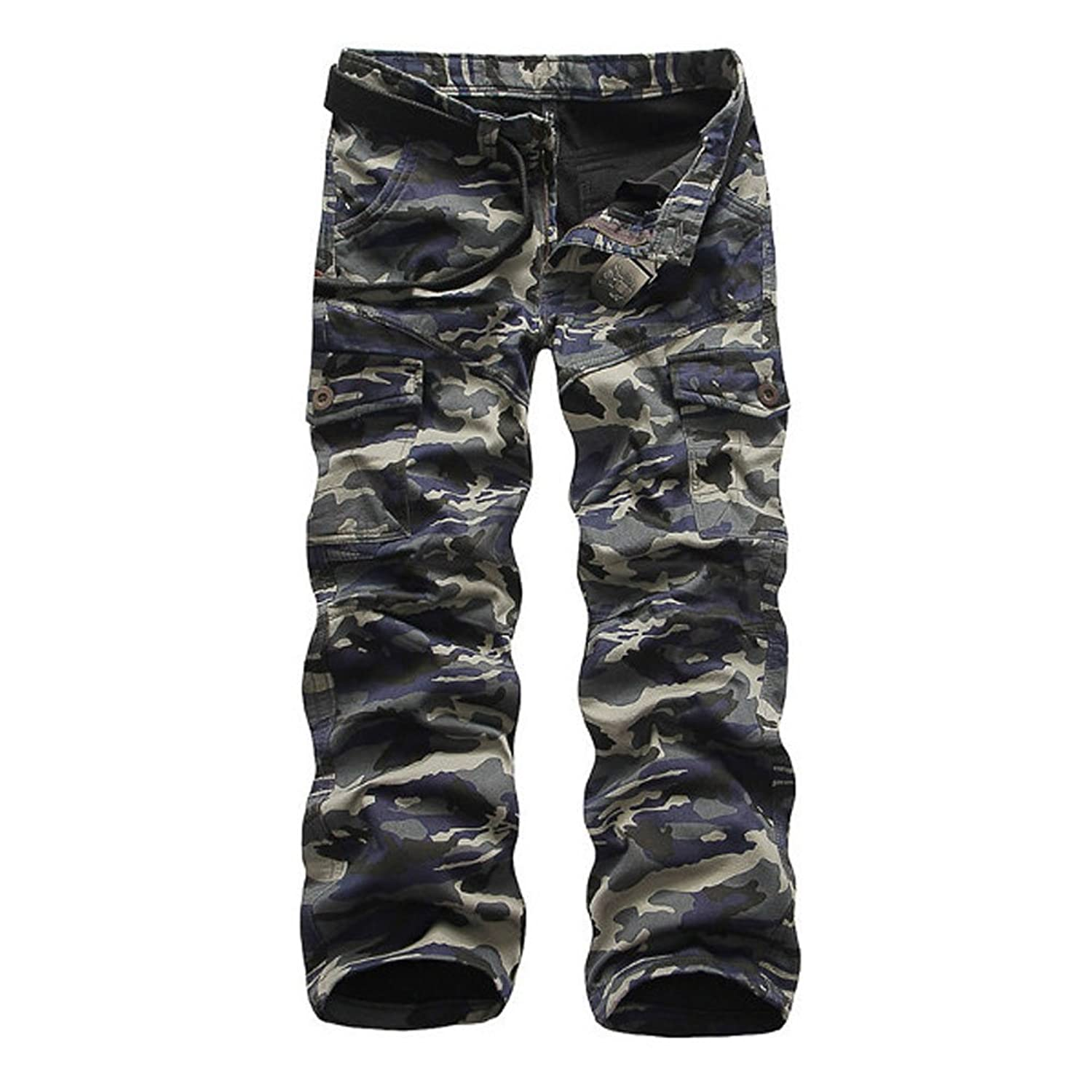 Tourwin Mens Overalls Camouflage Pocket Winter Thick Fashion Cotton Warm Cargo Pants Trousers Outdoor Casual