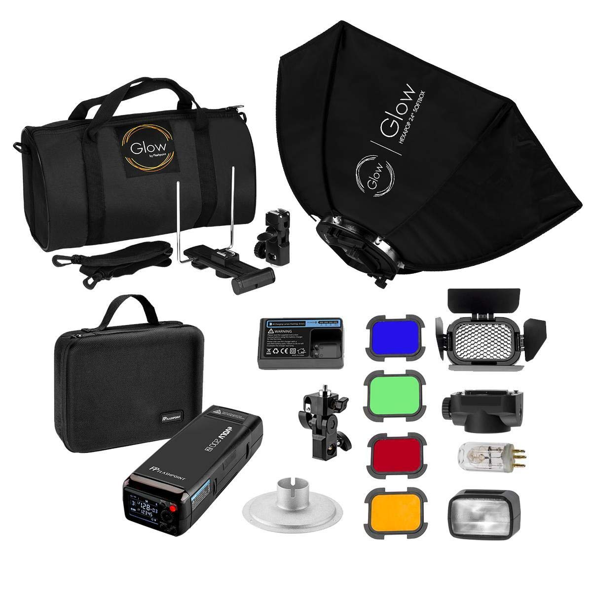 Flashpoint eVOLV 200 TTL Pocket Flash Exclusive HexaPop Kit (Godox AD200 TTL Pocket Flash) by Flashpoint