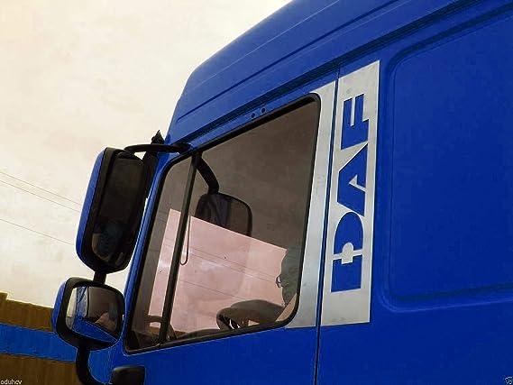 4 Teiliges Set Edelstahl Poliert Chrom Tür Dekorationen Für Daf Xf 95 105 Lkw Auto