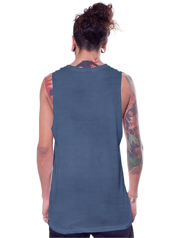 Herren Grafik Tanktop Master Mind Abgrund Druck M Ärmellos Urban Verwaschen  Blau Shirt: Amazon.de: Bekleidung