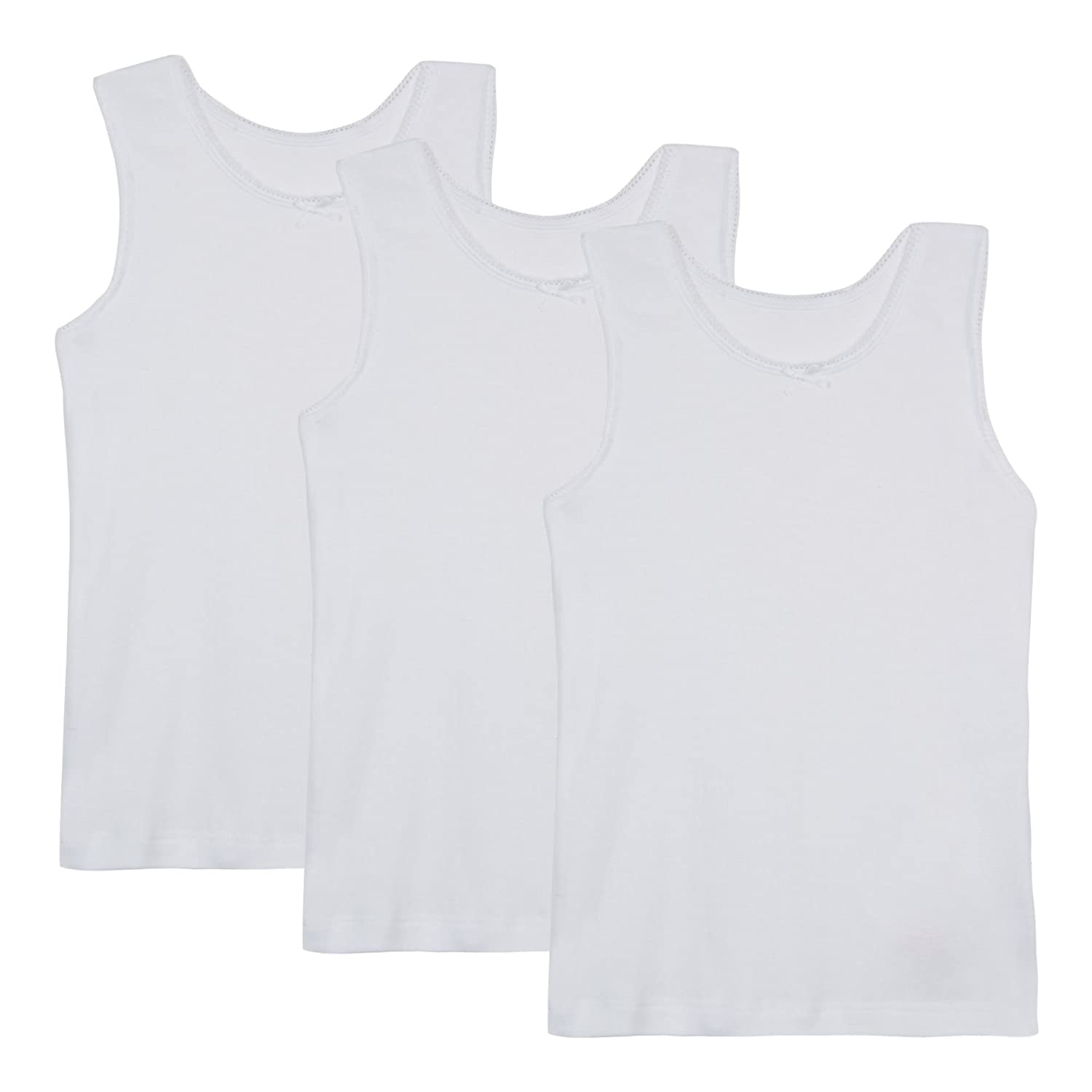 Debenhams Kids '3 Pack Girls' White Vests