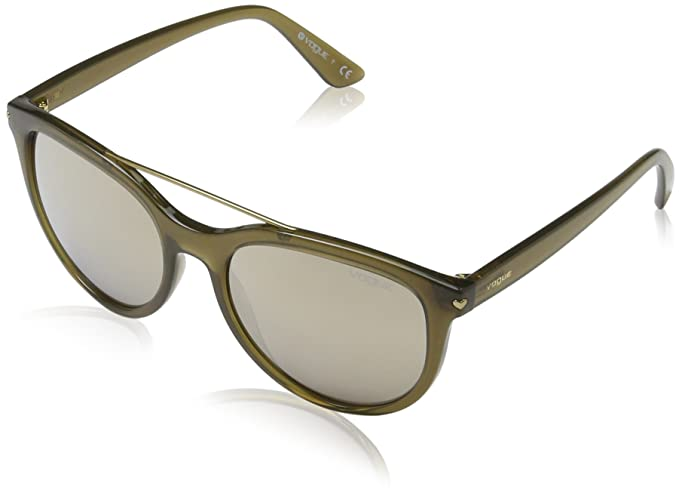 Vogue 0vo5134s 25305a 55 Gafas de sol, Opal Olive Green, Mujer