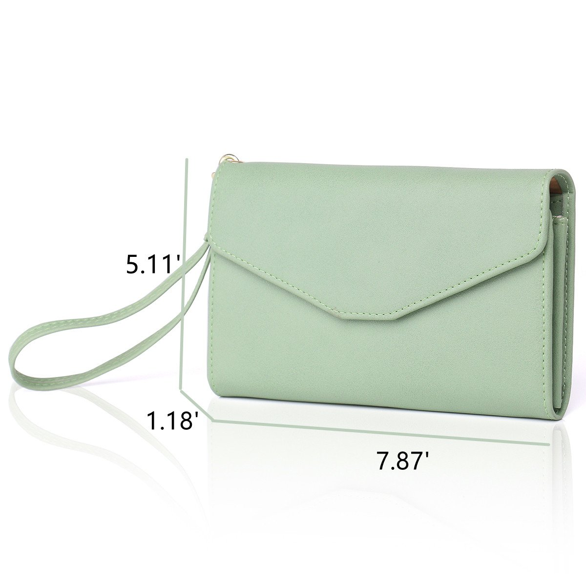 Zg Wristlets for Women, Cell Phone Clutch Wallet, Passport Wallet, All In One Purse Extra Capacity by Zg gift (Image #6)