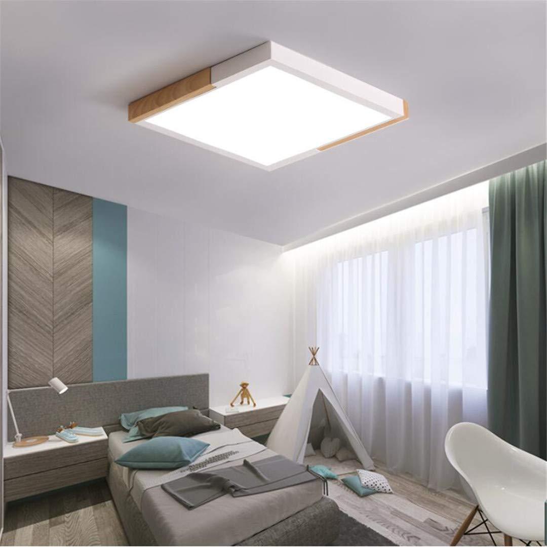 Eclairage De Plafond Cuisine U0026 Maison GD1 Plafonnier Nordic Minimalist  Style Lampe De Chambre Blanc En Bois ...