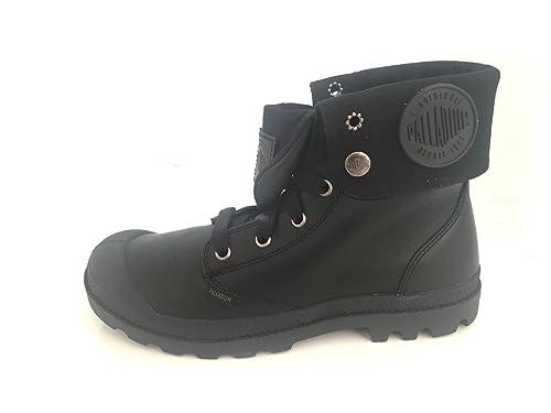 Femme Leather Palladium Noires Baggy 36 Bottines en Cuir H92IED
