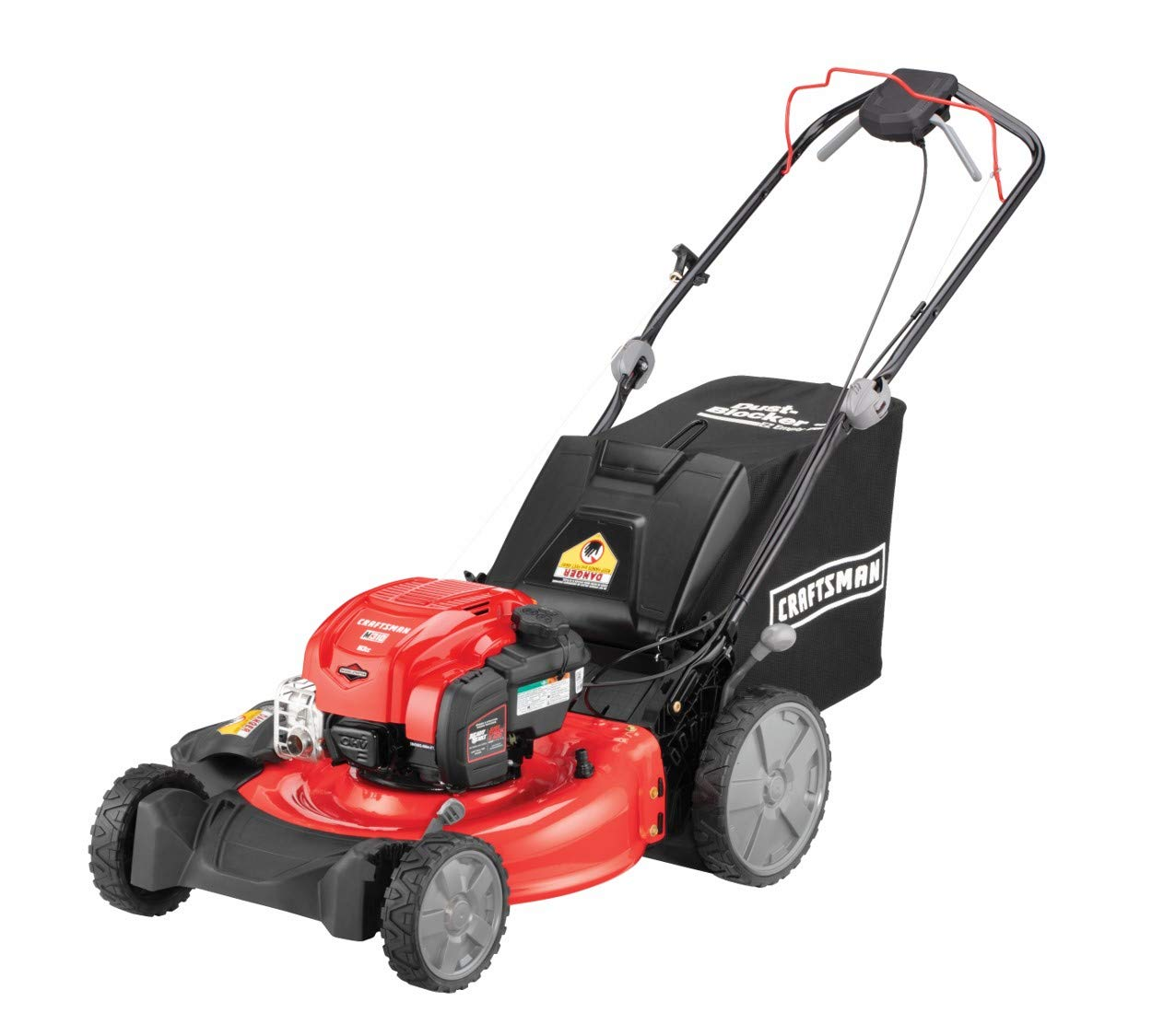 Craftsman M310 163cc Briggs Stratton 725 exi 21-Inch 3-in-1 RWD Self-Propelled Gas Powered Lawn Mower with Bagger