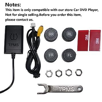 TPMS Sistema de control de presión de neumáticos de coche sistema de alarma de seguridad con