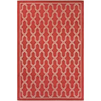Couristan Five Seasons Crystal Coast Runner Rug, 25 x 710, Red/Cream