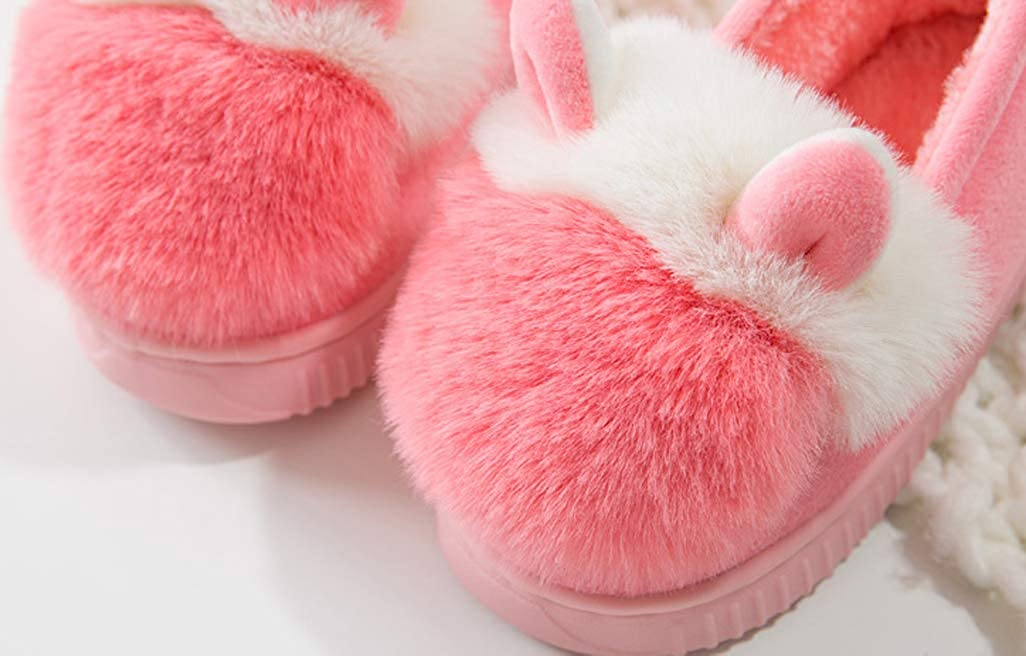D.S.mor Toddler Pom Pom Cute Plush Kids Shoes House Shoes