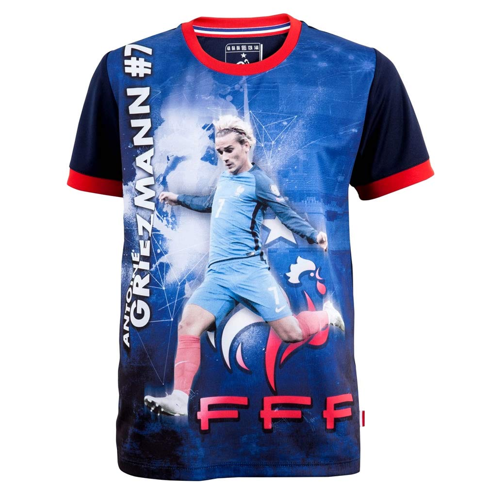 FFF - Official FFF 'Griezmann' Kids Soccer Jersey - Blue Shirts and T-Shirts of France