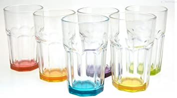6 Cocktailgläser Violett 480ml Hurricane Trinkgläser Longdrinkgläser Saftgläser