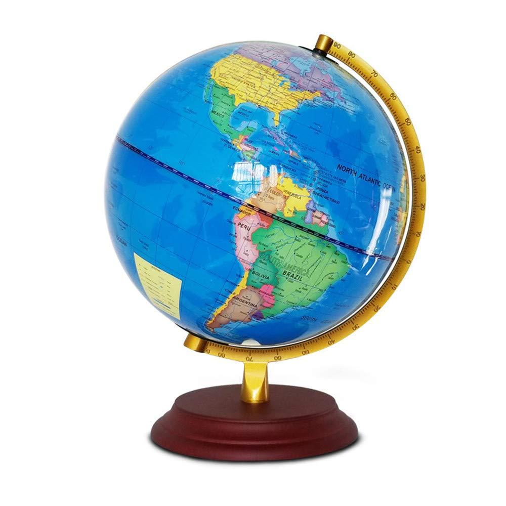 Sunbobo Geografia Rotante della Terra Completa educativa Atlas della Mappa del Mondo di 25CM Globe GIREVOLI con Il Regalo EDUCATIVO dello Stand per Bambini e Adulti