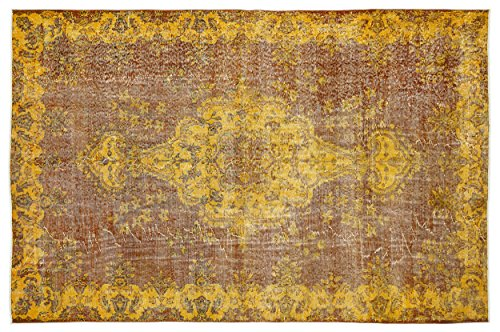 8'0'x11'0' Rectangular Rug (Nakkas Antique Handwoven Vintage Rug Yellow 5'11'' X 9'0'')