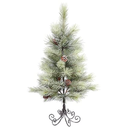 vickerman e155835 unlit frosted bellevue pine artificial christmas tree