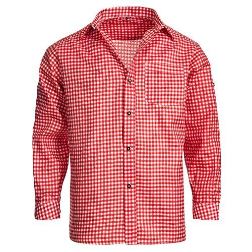 Mens Shirt red Checkered Size XL