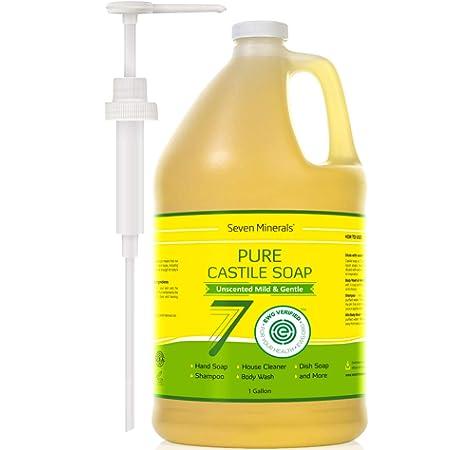 Amazon.com : EWG Verified Castile Soap - 1 Gallon - No Palm Oil ...