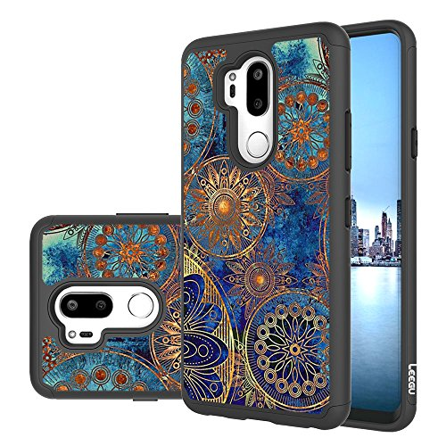 LG G7 ThinQ Case, LG G7 Case, LEEGU [Shock Absorption] Dual Layer Heavy Duty Protective Silicone Plastic Cover Rugged Case for LG G7 ThinQ (2018) - Gear Wheel