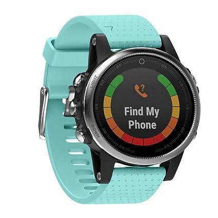 saihui repuesto Silicagel Soft Quick Release Kit Banda correa para Garmin Fenix 5s GPS reloj,
