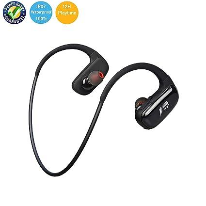 839cc152eda Audifonos inalambricos, ANNA TOSANI auriculares bluetooth IPX7 Impermeable  In-ear auriculares bluetooth deportivos con Micrófono HD ...