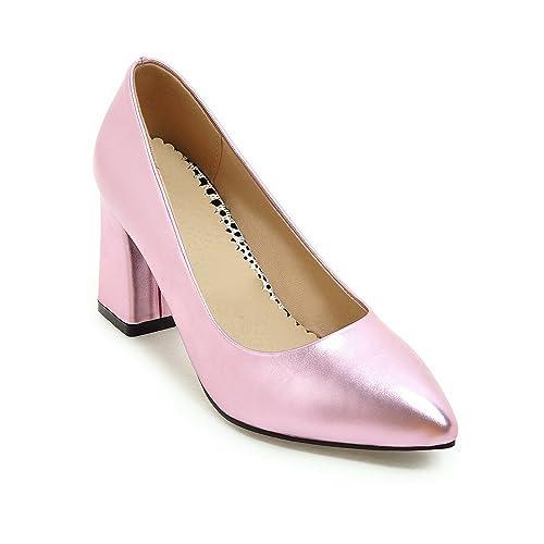 Tacones De Señaló Qin amp;x Mujer Bloque Zapatos Convergencia La Yfy6b7g