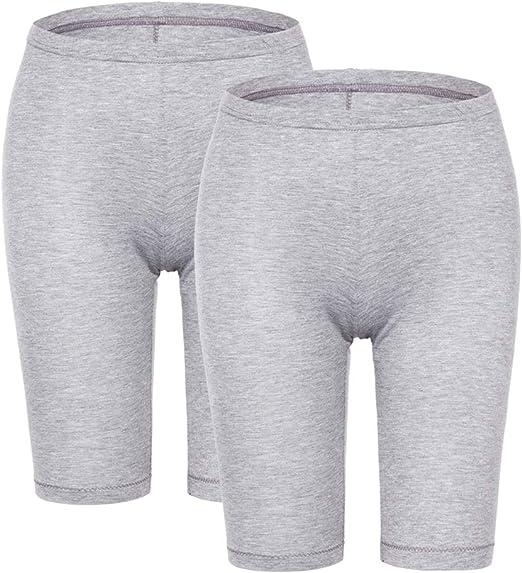 MANCYFIT Short Leggings for Women Slip Shorts Mid Thigh Legging Plus Size Undershorts Flat