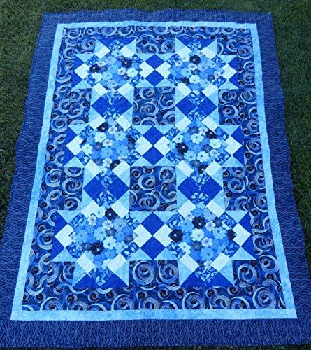 Quilt Kit~Blue Brilliance Lap Quilt~53 x 71 Pattern and Fabric~Top/Binding,Benartex