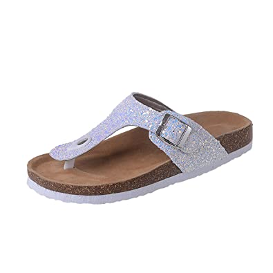 8c53e910e3fee8 gracosy Women Leather Mules Clogs Ladies Flip Flop Sandals Beach Slipper  Summer Breathable Sport Sandals Open Toe Shoes Slip on Flat Sandals Wedge  ...
