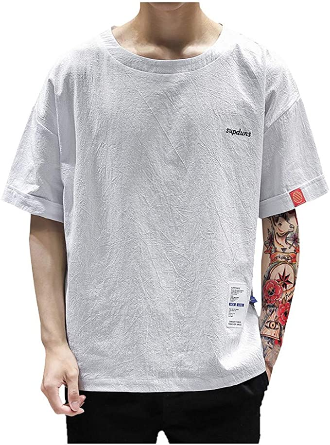 SUDADY Camisetas para Hombre, Supduns Verano Corta Manga Diario ...