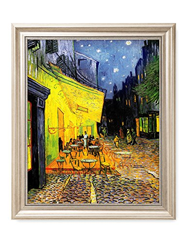 Wall Art Framed Letters - DECORARTS - Cafe Terrace at Night, Vincent Van Gogh Art Reproduction. Giclee Print& Framed Art for Wall Decor. 16x20, Framed Size: 19x23