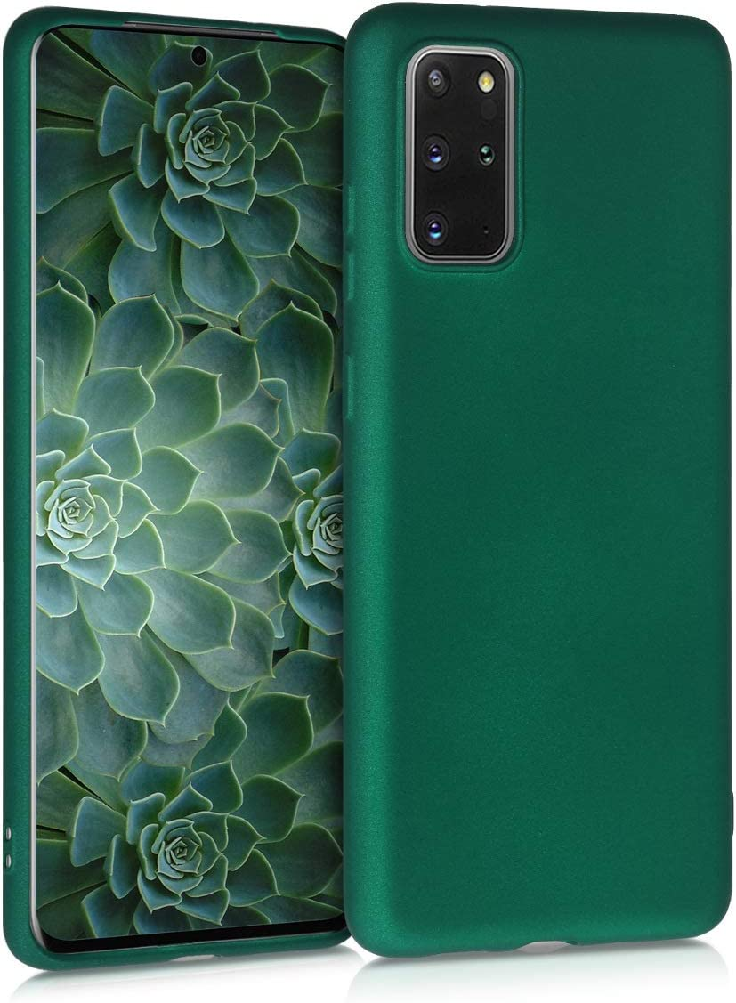 Protector Trasero en petr/óleo Mate Carcasa de TPU Silicona kwmobile Funda Compatible con Samsung Galaxy S20 Plus