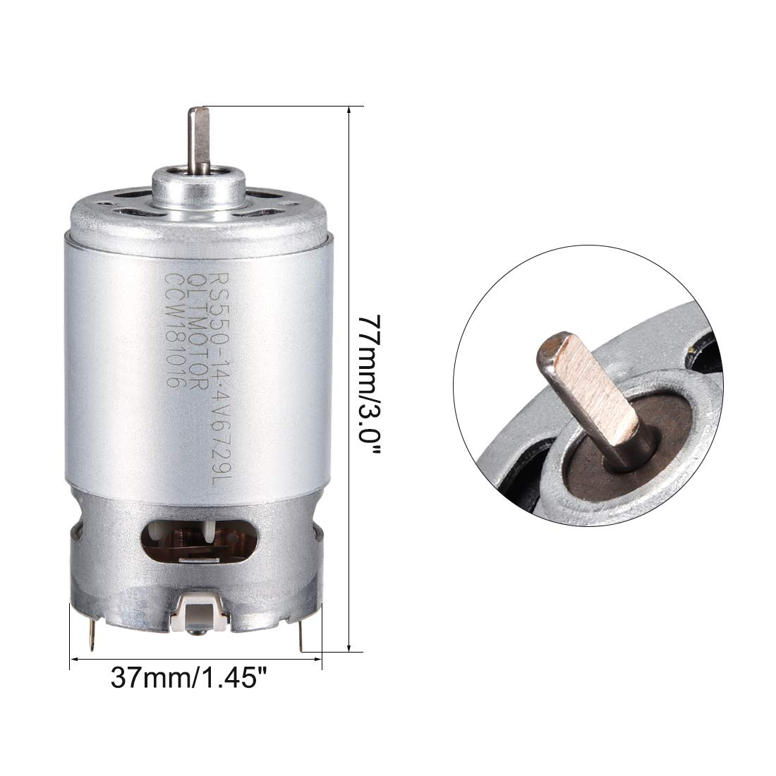 Robots uxcell 14.4V 19000RPM DC Motor for DIY Electronic Drills Replacement Engine Power Tool
