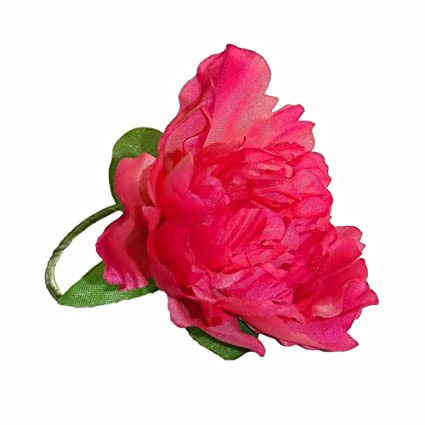 Amazon peony silk flower napkin rings set of 6 hot pink home peony silk flower napkin rings set of 6 hot pink mightylinksfo