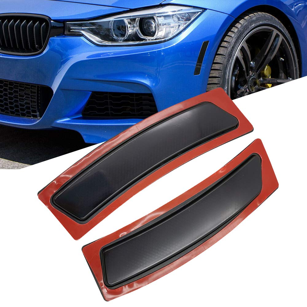 GSRECY Front Bumper Reflector Side Marker Lights For BMW F30 3 Series F32 F33 F36 4-Series Gray Lens
