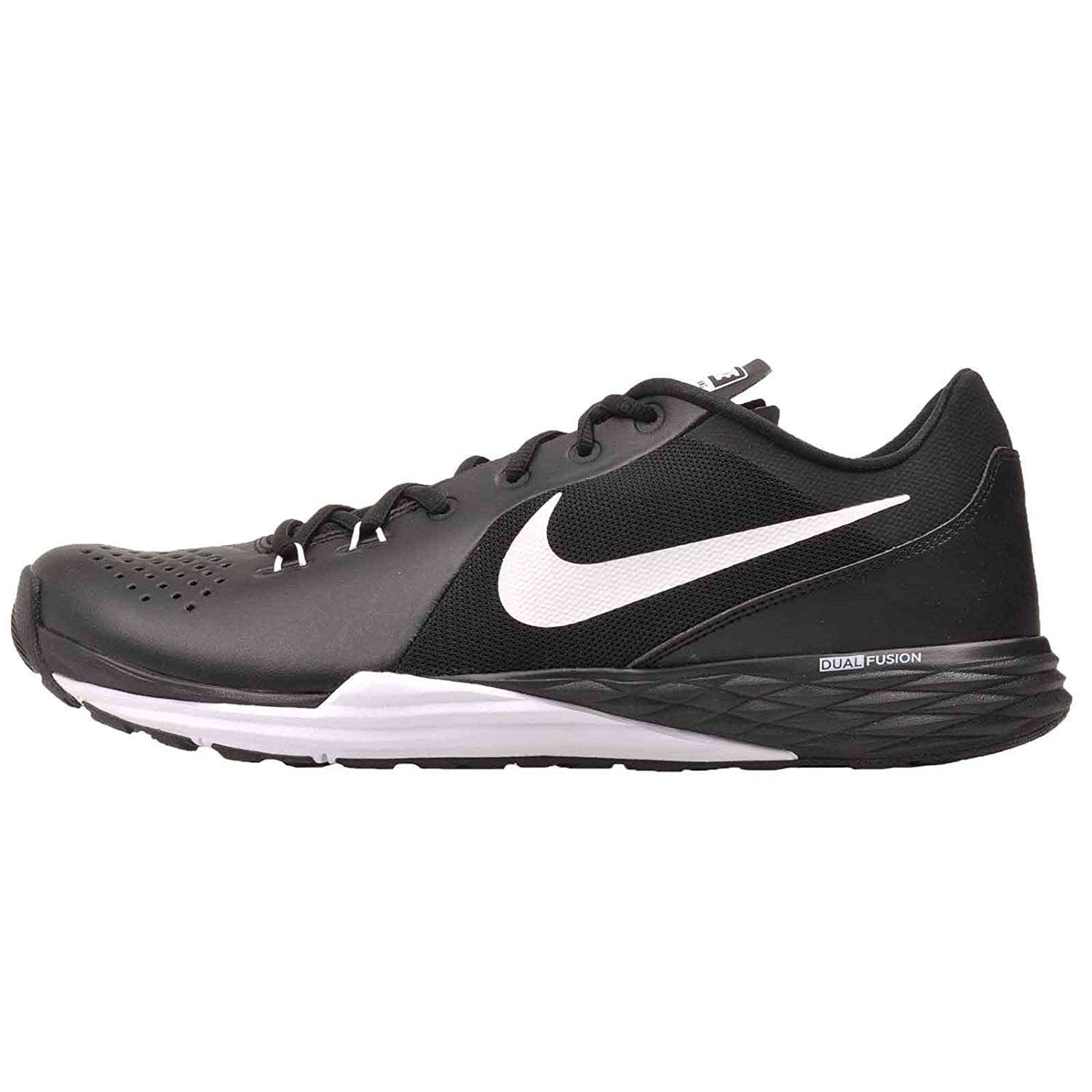 first rate 051ed e8e9e Amazon.com   Nike Men s Prime Iron Df Leather Training Shoe (9) Black White    Athletic