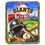 "The Northwest Company MLB San Francisco Giants Home Field Advantage Woven Tapestry Throw, 48"" x 60"""