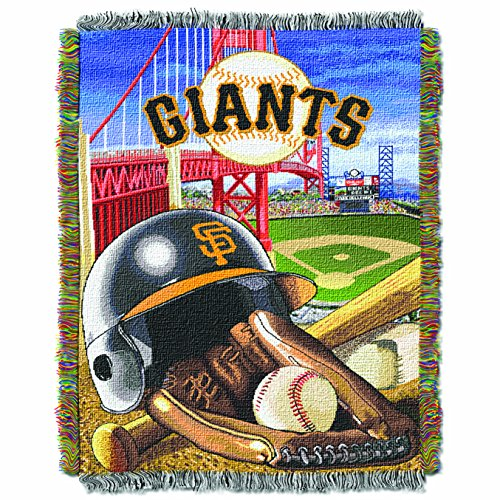 (The Northwest Company MLB San Francisco Giants Home Field Advantage Woven Tapestry Throw, 48