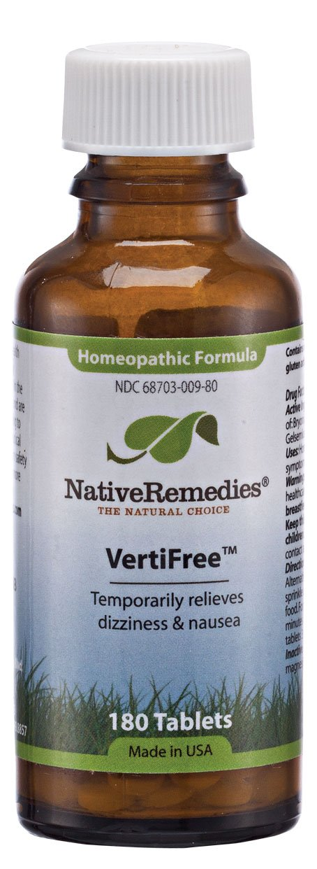 Native Remedies Vertifree To Temporarily Relieves, Dizziness & Nausea (180 Tablets)